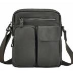 Тёмно-коричневая кожаная мужская сумка-мессенджер Tiding Bag 9812-1C - Фото № 102
