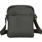 Тёмно-коричневая кожаная мужская сумка-мессенджер Tiding Bag 9812-1C - Фото № 103