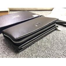Чёрный кожаный клатч Montblanc 98889-05