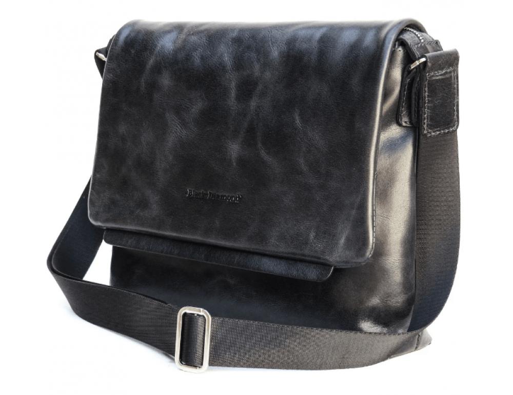 Мягкая мужская кожаная сумка через плечо Black Diamond A leon