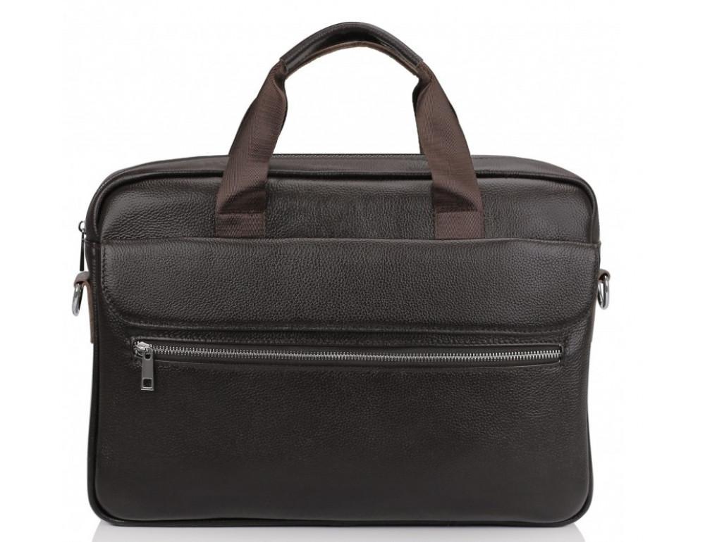 Тёмно-коричневая кожаная сумка под ноутбук Bexhill A25-1127C - Фото № 3
