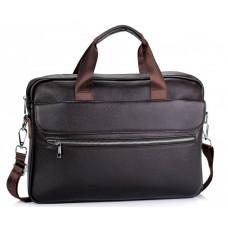 Темно-коричнева шкіряна сумка під ноутбук Bexhill A25-1127C
