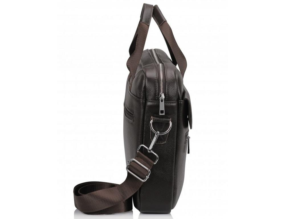 Тёмно-коричневая кожаная сумка под ноутбук Bexhill A25-1127C - Фото № 5