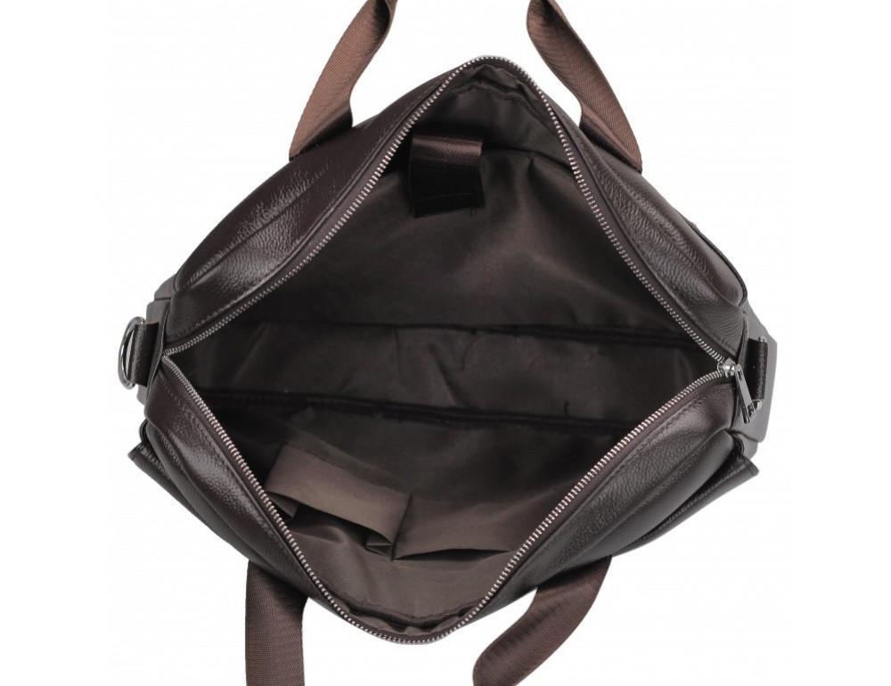 Тёмно-коричневая кожаная сумка под ноутбук Bexhill A25-1127C - Фото № 6