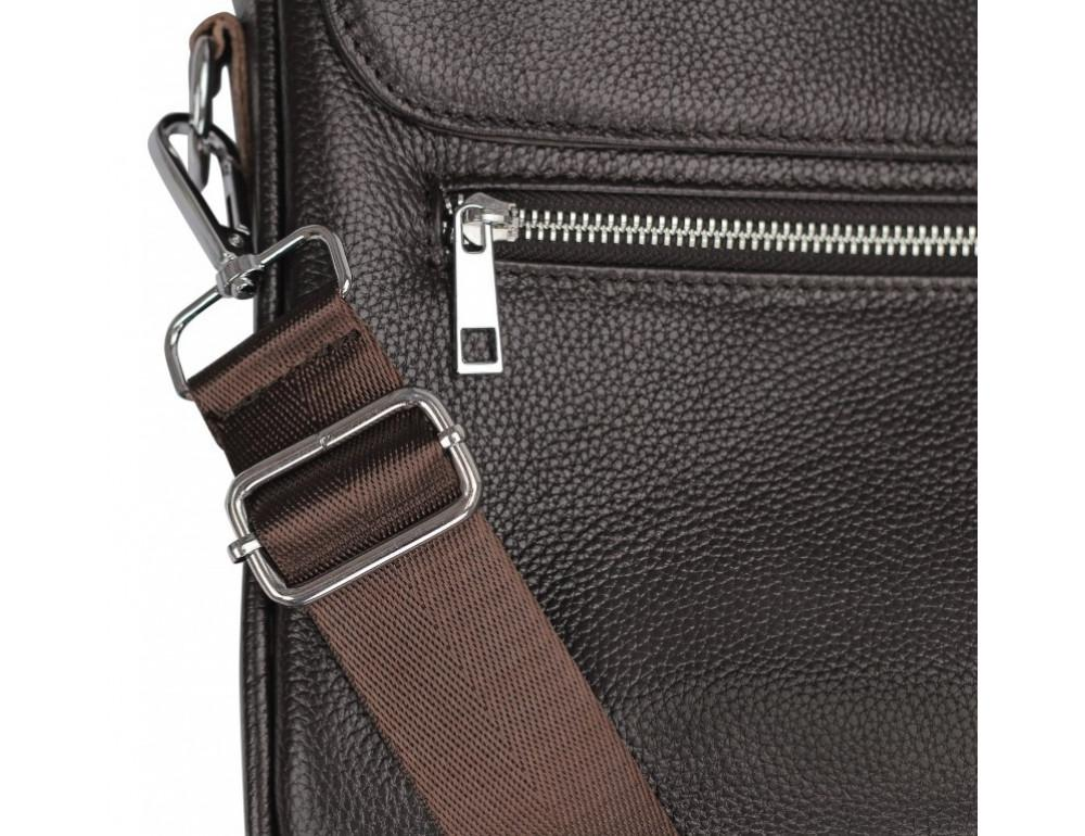 Тёмно-коричневая кожаная сумка под ноутбук Bexhill A25-1127C - Фото № 8