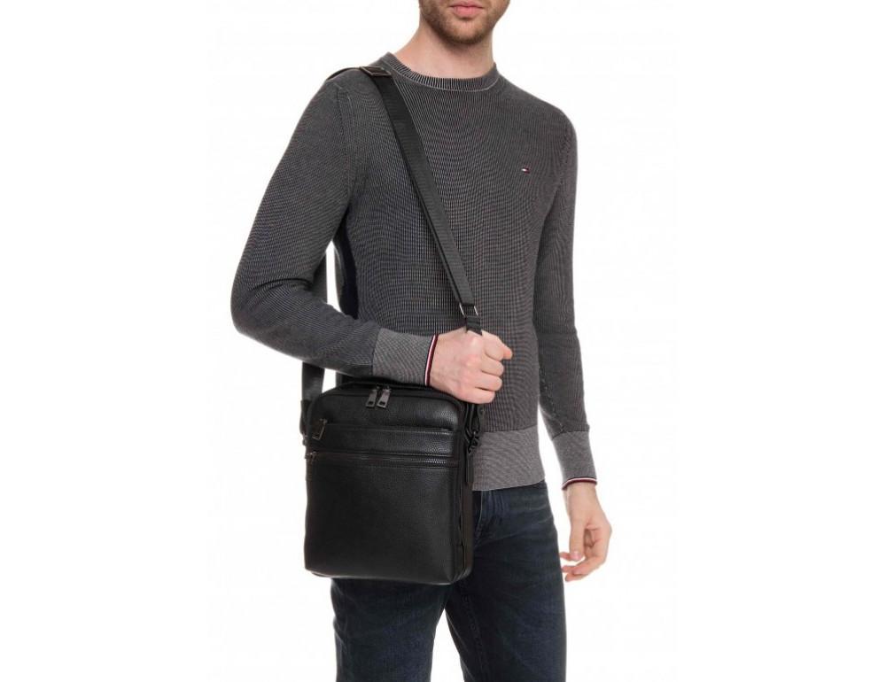 Мужской кожаный мессенджер Tiding Bag A25-17622-3А - Фото № 2