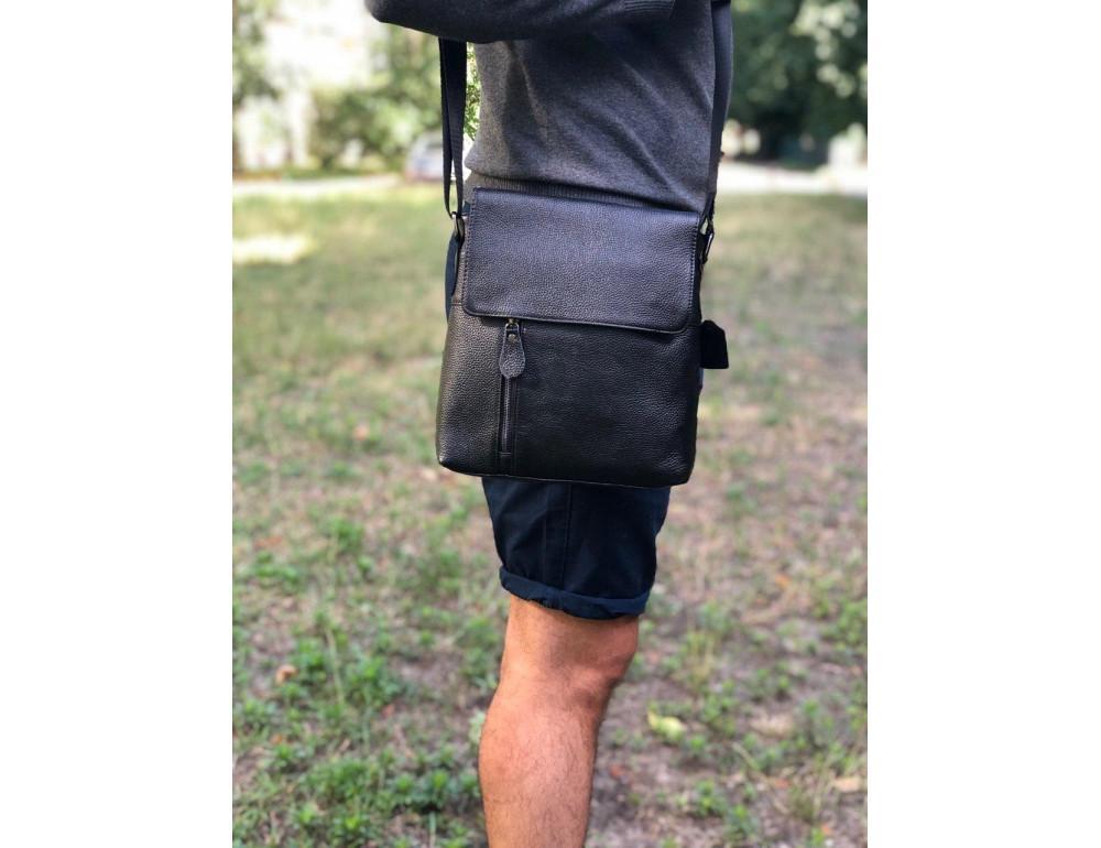 Мужская кожаная сумка через плечо TIDING BAG A25-238-1A - Фото № 6