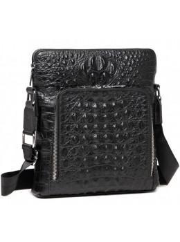 Черная кожаная сумка-мессенджер Tiding Bag A25F-7607-3A