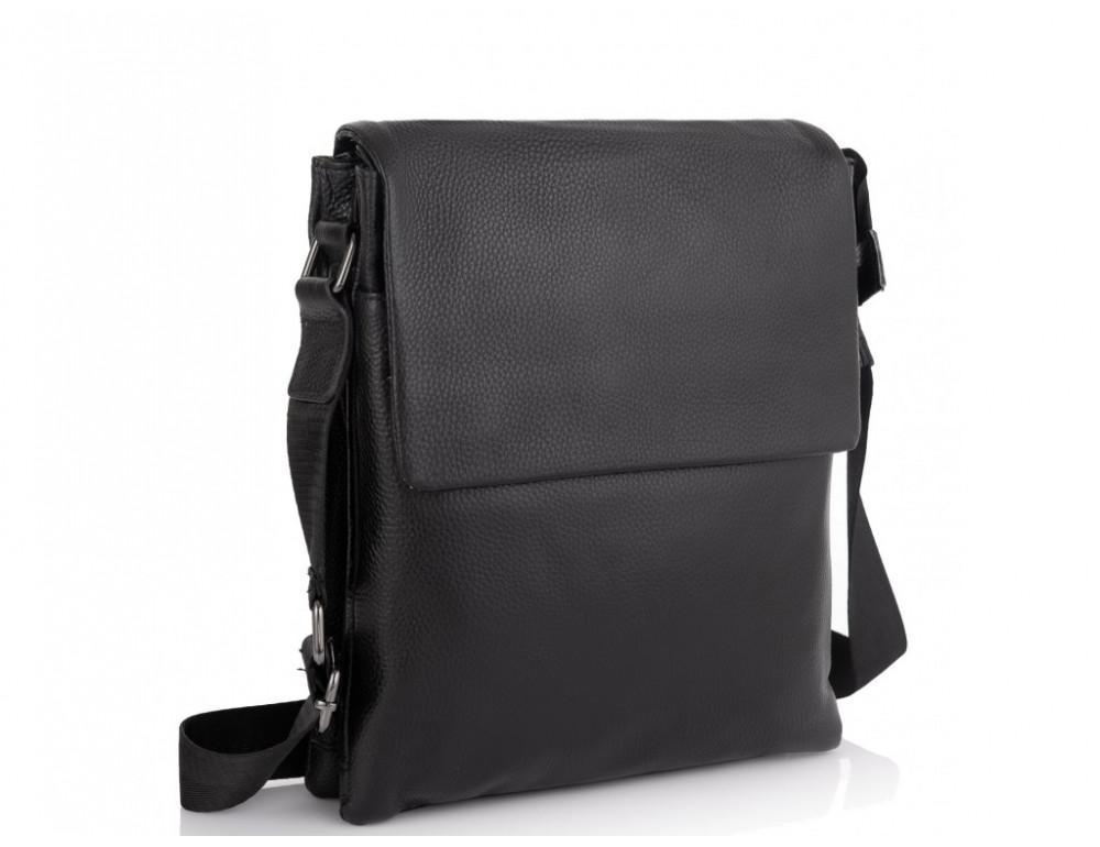 Чёрная маленькая мужская сумка мессенджер Tiding Bag A25F-875A