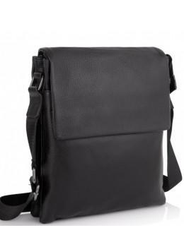 Чорна шкіряна сумка через плече Tiding Bag A25F-8873A