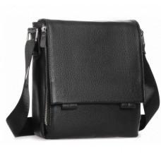 Чёрная маленькая мужская сумка через плечо Tiding Bag A25F-8877A