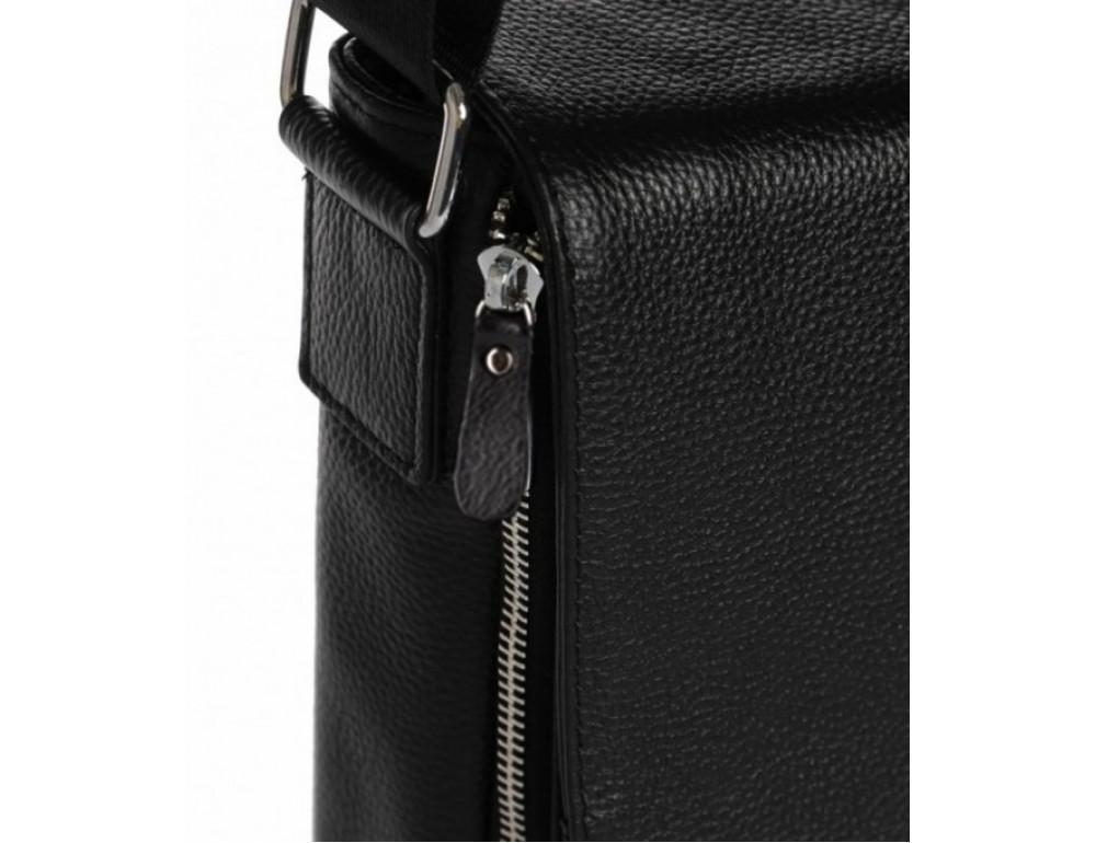 Чёрная маленькая мужская сумка через плечо Tiding Bag A25F-8877A - Фото № 3