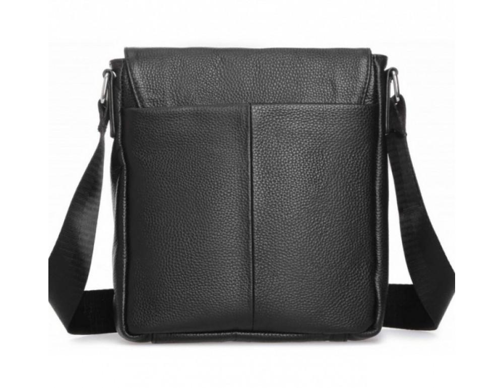 Чёрная маленькая мужская сумка через плечо Tiding Bag A25F-8877A - Фото № 4