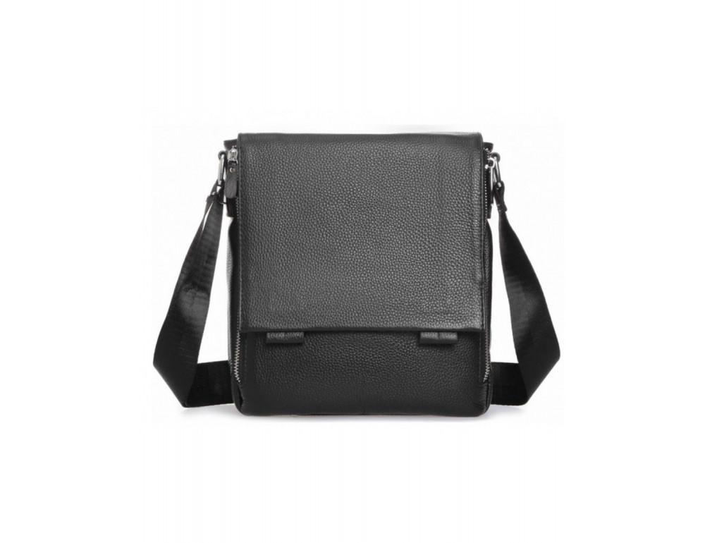 Чёрная маленькая мужская сумка через плечо Tiding Bag A25F-8877A - Фото № 5
