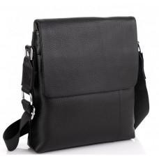 Чёрная кожаная сумка через плечо Tiding Bag A25F-8878A