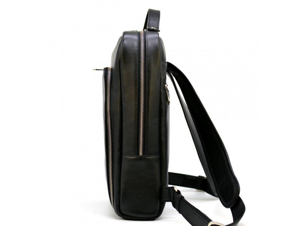 Чёрный кожаный рюкзак TARWA ta-1239-4lx - Фото № 2