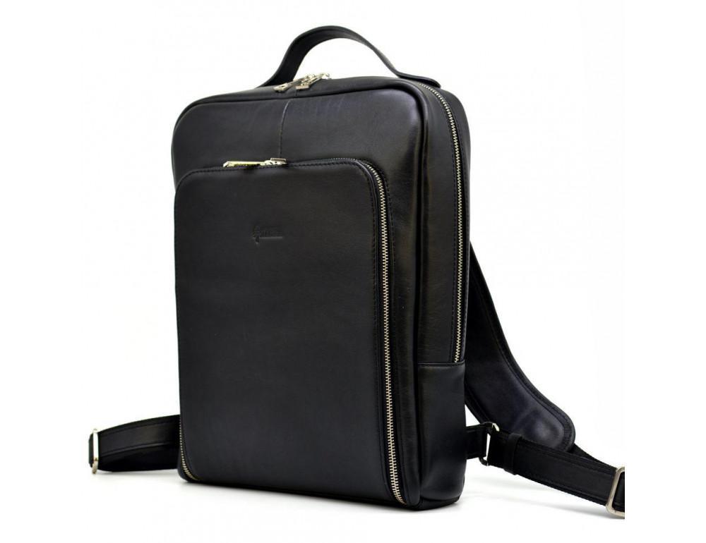 Чёрный кожаный рюкзак TARWA ta-1239-4lx - Фото № 1
