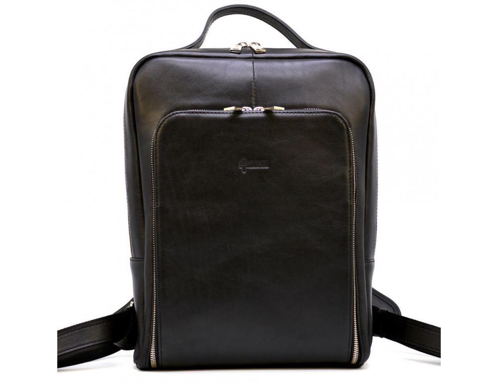 Чёрный кожаный рюкзак TARWA ta-1239-4lx - Фото № 3