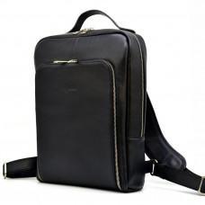 Чёрный кожаный рюкзак TARWA ta-1239-4lx