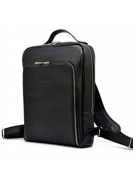 Чорний шкіряний рюкзак TARWA ta-1239-4lx