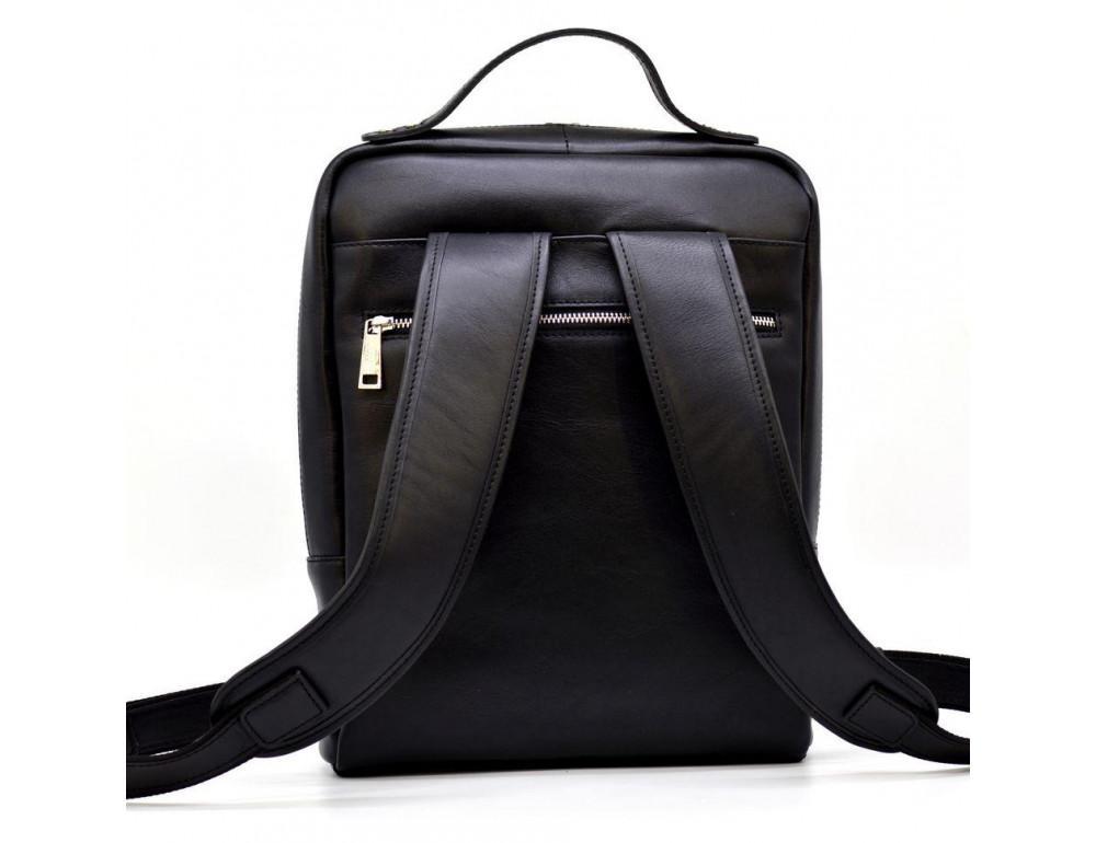Чёрный кожаный рюкзак TARWA ta-1239-4lx - Фото № 4
