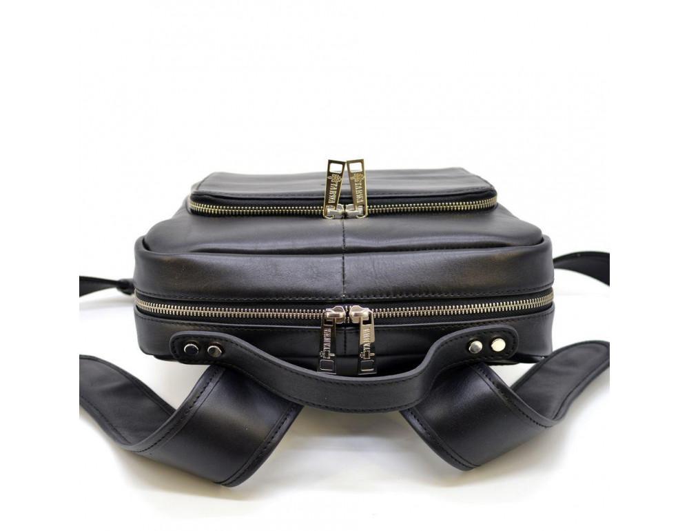 Чёрный кожаный рюкзак TARWA ta-1239-4lx - Фото № 5