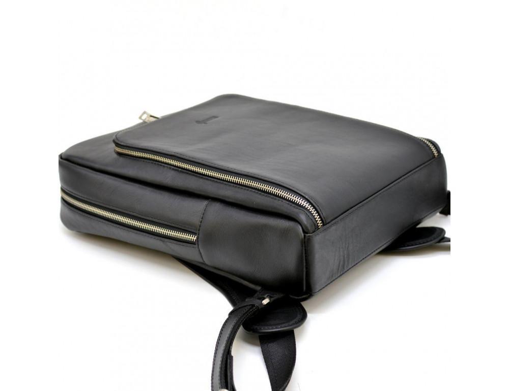 Чёрный кожаный рюкзак TARWA ta-1239-4lx - Фото № 6