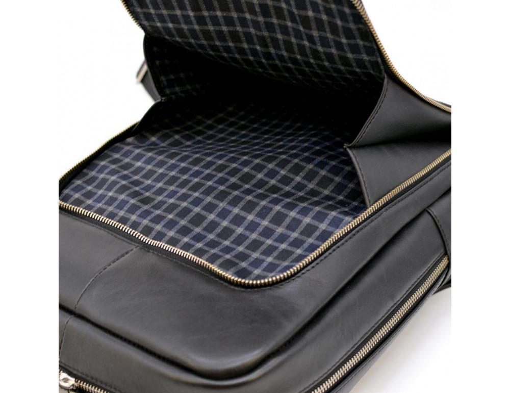 Чёрный кожаный рюкзак TARWA ta-1239-4lx - Фото № 7