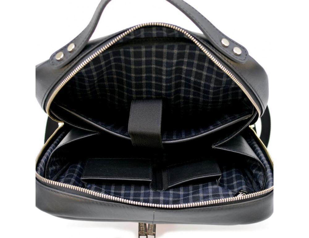 Чёрный кожаный рюкзак TARWA ta-1239-4lx - Фото № 8