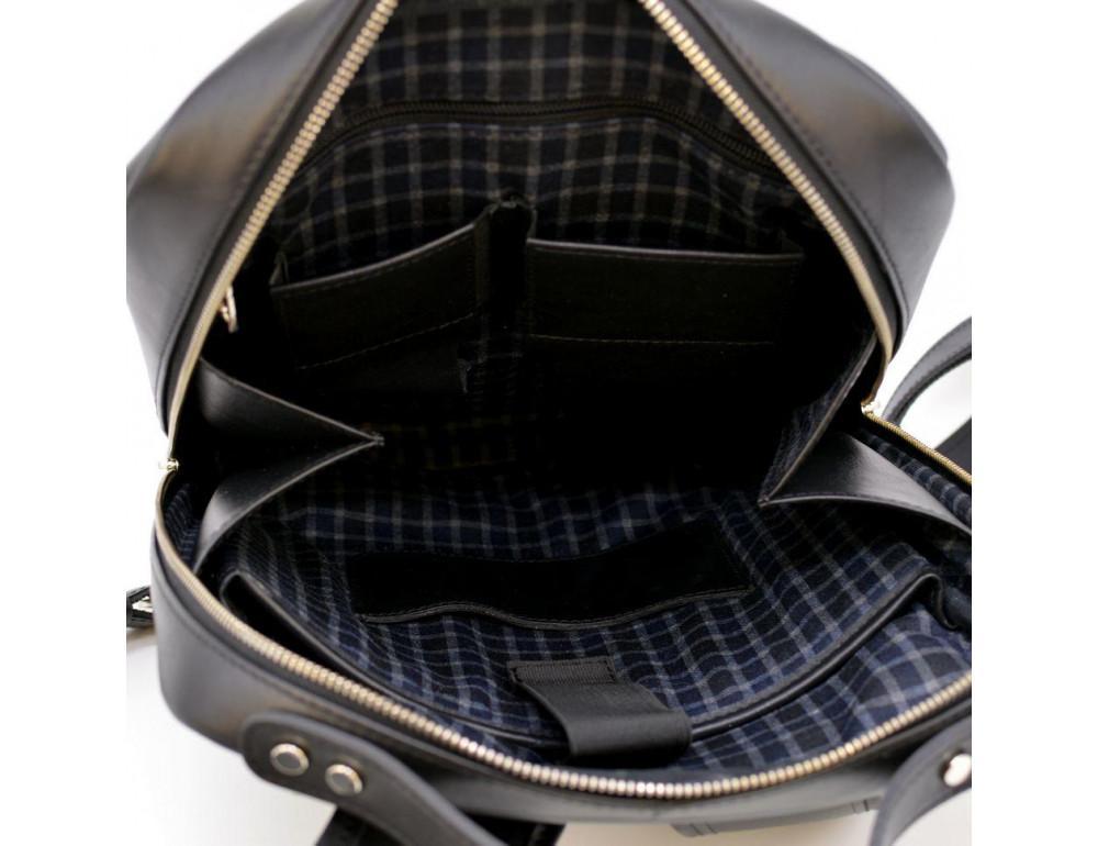 Чёрный кожаный рюкзак TARWA ta-1239-4lx - Фото № 9