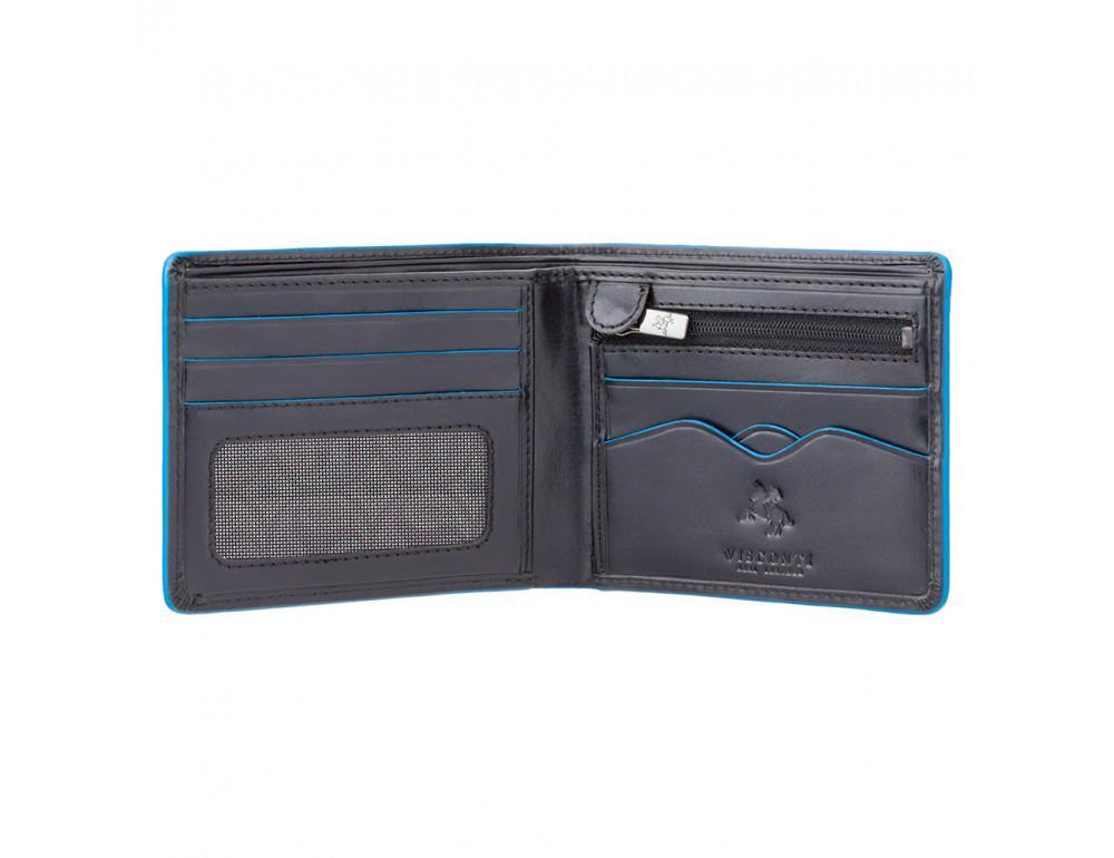 Чёрный кожаный кошелек мужской Visconti ALP85 IT BLK Ozwald с RFID - Фото № 2