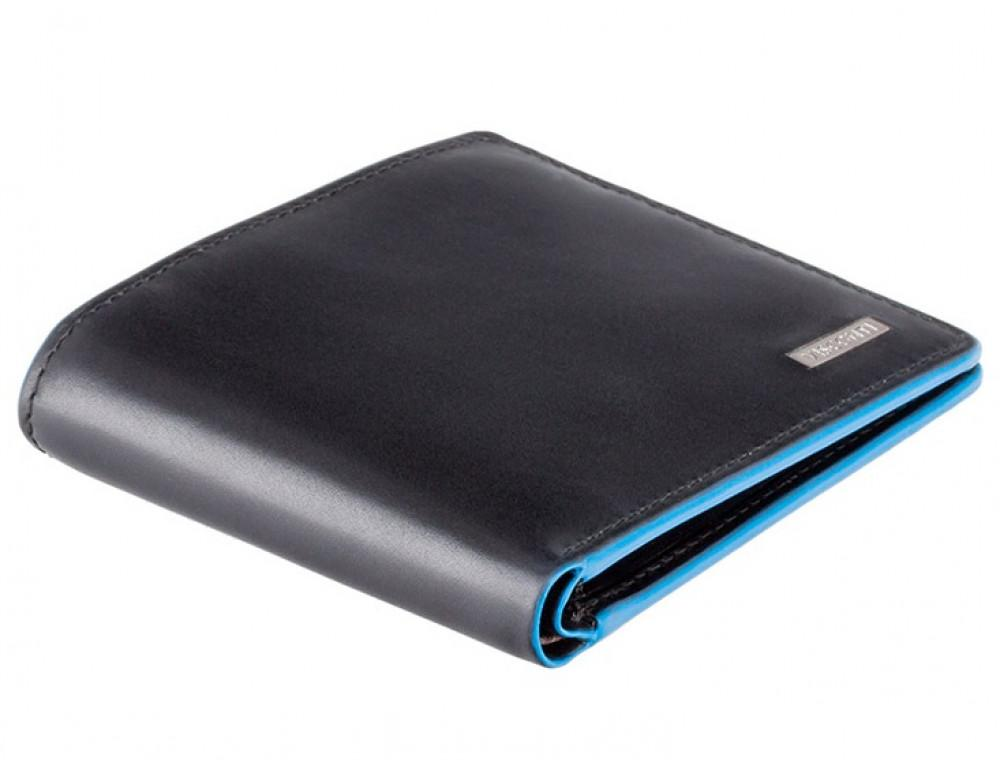 Чёрный кожаный кошелек мужской Visconti ALP85 IT BLK Ozwald с RFID - Фото № 3
