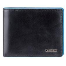 Чёрный кожаный кошелек мужской Visconti ALP85 IT BLK Ozwald с RFID