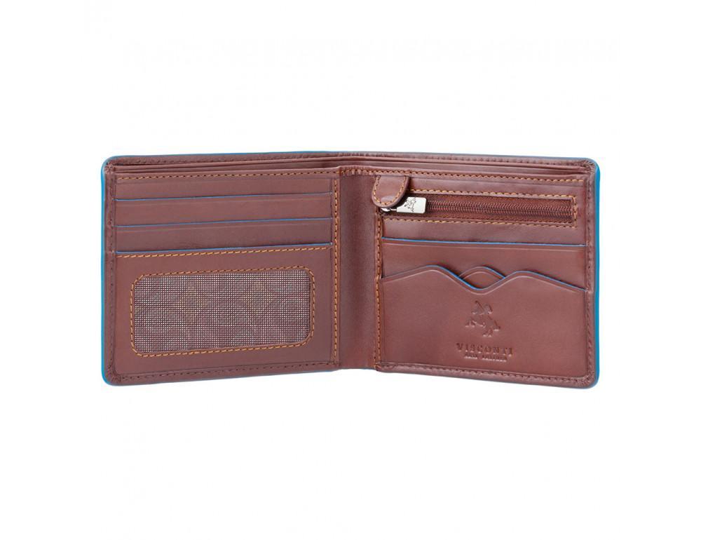 Коричневый кожаный кошелек мужской Visconti ALP85 IT BRN Ozwald с RFID - Фото № 2