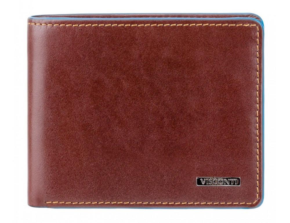 Коричневый кожаный кошелек мужской Visconti ALP85 IT BRN Ozwald с RFID - Фото № 1