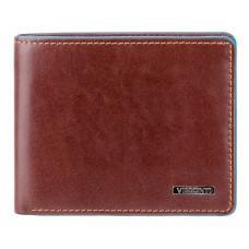 Коричневый кожаный кошелек мужской Visconti ALP85 IT BRN Ozwald с RFID