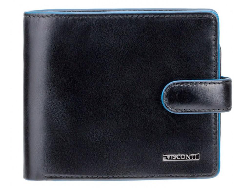 Чёрный мужской кошелёк на защёлке Visconti ALP86 IT BLK Tom - Фото № 1