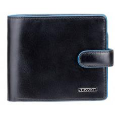 Чёрный мужской кошелёк на защёлке Visconti ALP86 IT BLK Tom