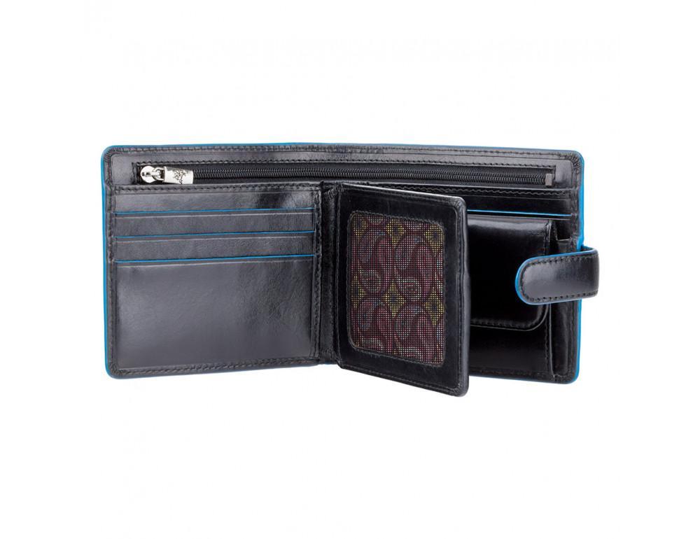 Чёрный мужской кошелёк на защёлке Visconti ALP86 IT BLK Tom - Фото № 2