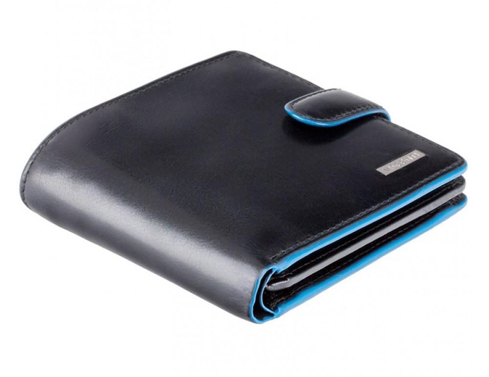 Чёрный мужской кошелёк на защёлке Visconti ALP86 IT BLK Tom - Фото № 3