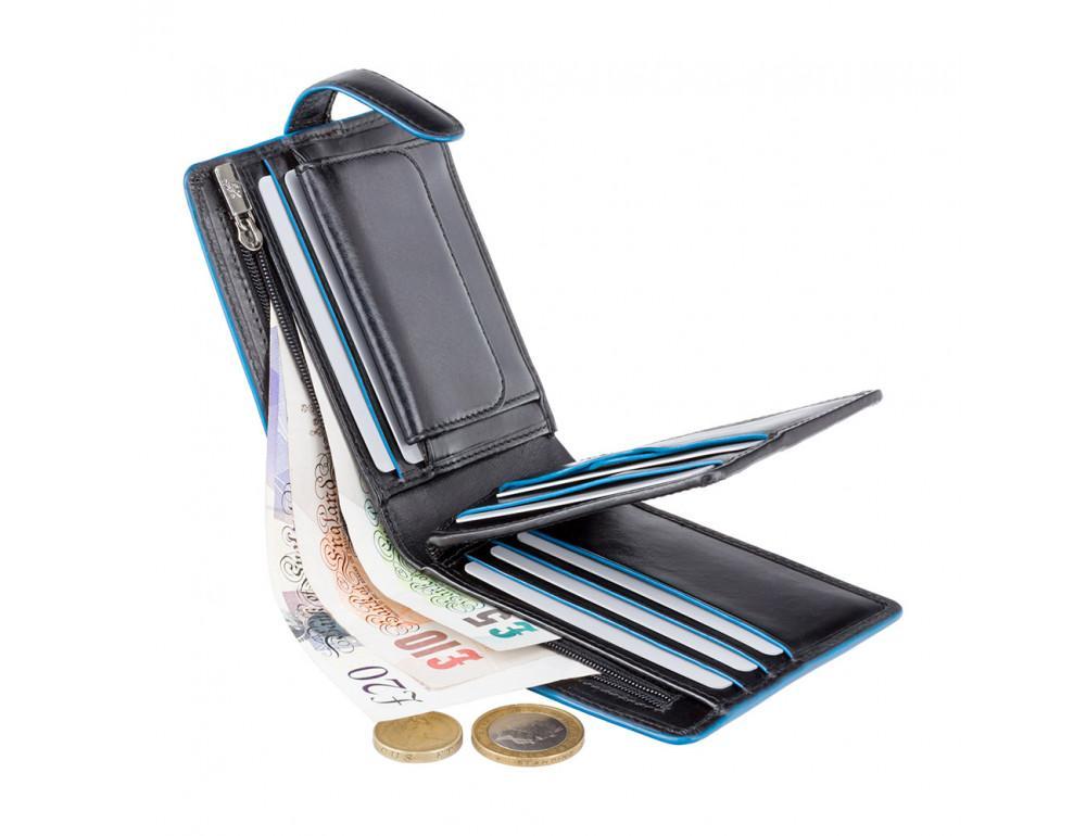 Чёрный мужской кошелёк на защёлке Visconti ALP86 IT BLK Tom - Фото № 4