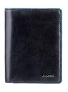 Чёрный мужской кошелек Visconti ALP87 IT BLK Ralph