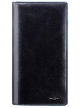 Чёрный кожаный портмоне Visconti ALP88 IT BLK
