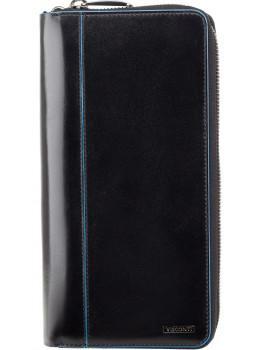 Чёрный кожаный клатч Visconti ALP89 IT BLK