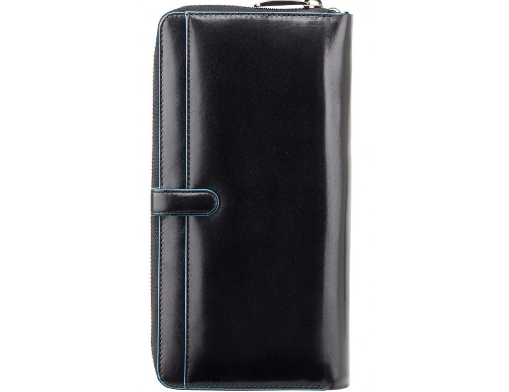 Чёрный кожаный клатч Visconti ALP89 IT BLK - Фото № 5