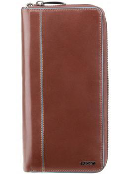 Коричневый кожаный клатч Visconti ALP89 IT BRN
