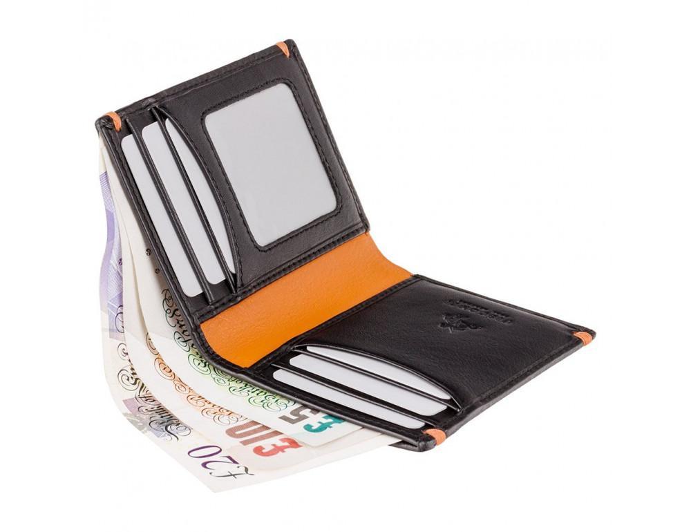 Мужской кожаный кошелек Visconti AP60 BLK/ORG Черный  - Фото № 3