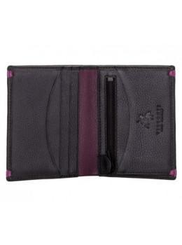 Чёрный кожаный портмоне Visconti AP61 BLK/BG Brig