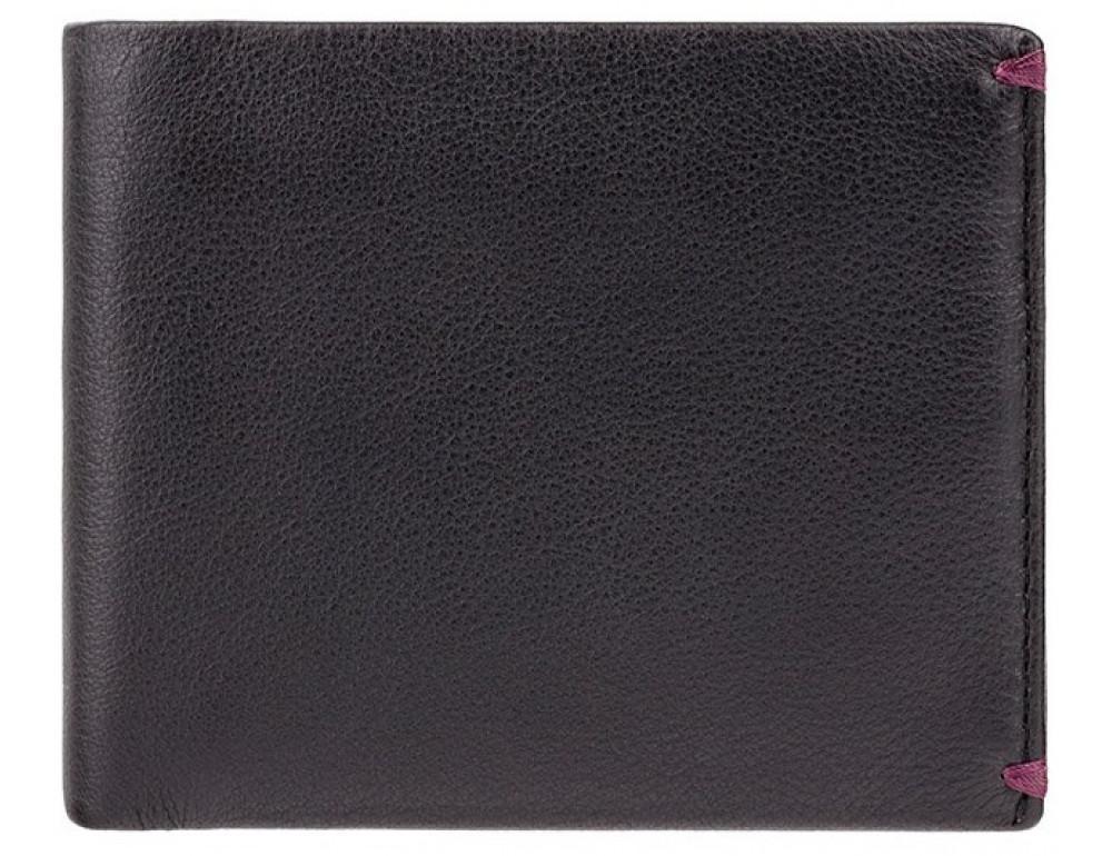 Чоловічий шкіряний гаманець Visconti AP62 BLK / BG чорний з винним