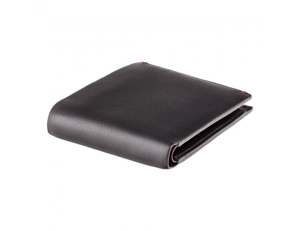 Мужской кожаный кошелек Visconti AP62 BLK/BG черный с винным - Фото № 3